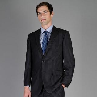 Men's Black Stripe 2-Button Suit