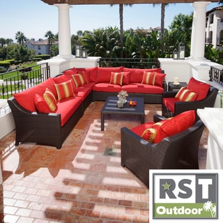 RST Brands Cantina 9 piece Corner Sectional Sofa and Club
