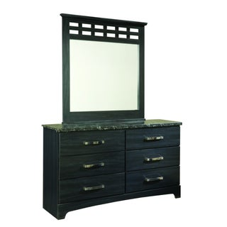 Olivia Black Oak Grain Mirror