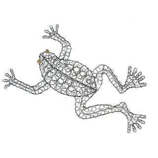 Hand-woven Wire Frog Decorative Figurine (Indonesia)