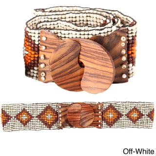 Block Rock Beaded Belt (Indonesia)