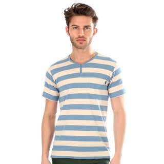 191 Unlimited Men's Striped Henley Tee