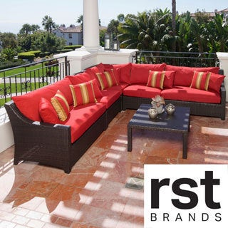 RST Cantina 6-piece Corner Sectional Sofa and Coffee Table Set Patio Furniture