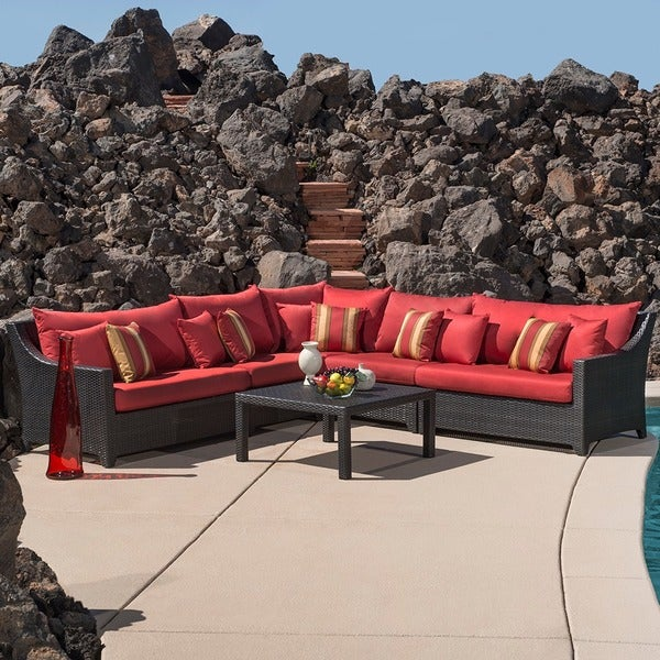 RST Brands Cantina 6-piece Corner Sectional Sofa and Coffee Table Patio Set