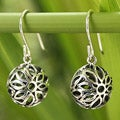 Handcrafted Sterling Silver 'Bubbling Blooms' Earrings (Thailand)