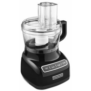 KitchenAid RKFP0711OB Onyx Black 7-cup Food Processor (Refurbished)