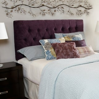 Humble + Haute Hampton Plum Queen Diamond Tufted Headboard