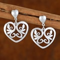 Handcrafted Sterling Silver 'Eternal Love' Earrings (Mexico)