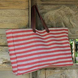 Handcrafted Cotton 'Chiang Mai' Medium Tote Bag (Thailand)