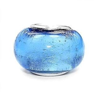Silverplated 'Foiled Again' Coastal Collection Glass Beads (Set of 3)