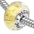 Sterling Silver 'Summer's Day' Murano-style Glass Bead