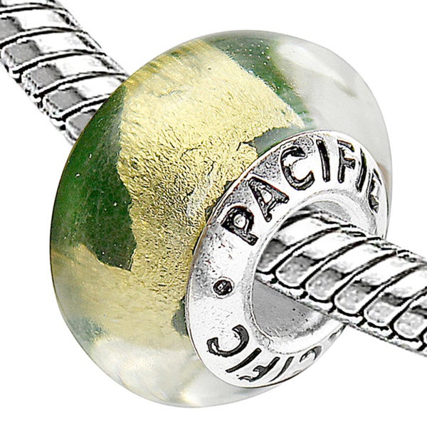 Sterling Silver 'Girl from Ipanema' Murano Style Glass Bead