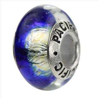 Sterling Silver 'Gremlin Run' Murano-style Glass Bead