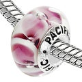 Sterling Silver 'Do You Lilac It?' Murano-style Glass Bead