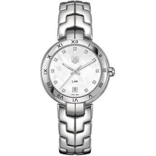 Tag Heuer Women's WAT1315BA0956 Link Mother of Pearl Dial Steel Watch