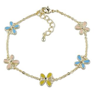 M by Miadora 18k Gold Plated Children's Colorful Charm Bracelet