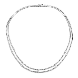 Auriya 14k Gold 2 3/5ct TDW Diamond Tennis Necklace (H-I, SI1-SI2)