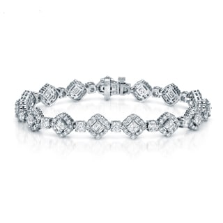 Auriya 18K White Gold 9 1/2ct TDW Diamond Bracelet (F-G, VS1-VS2)