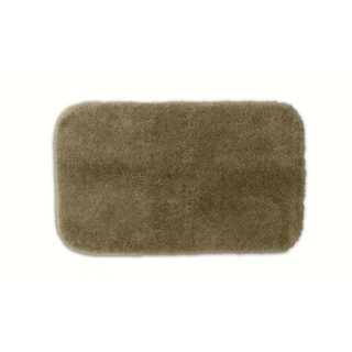 Posh Plush Taupe Washable Bath Rug
