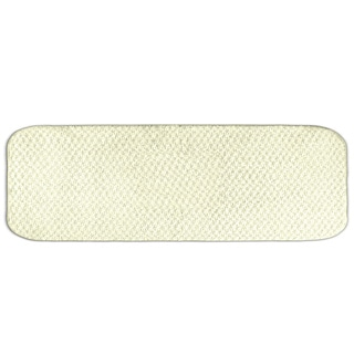 Enliven Textured Ivory 22 x 60 Bath Runner