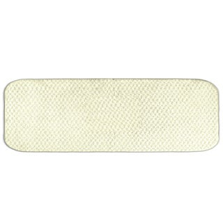Enliven Textured Ivory Bath Runner Rug (22 x 60)
