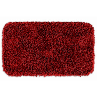 Quincy Super Shaggy Red Hot Washable Runner Bath Rug