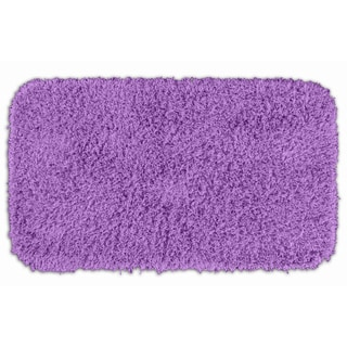 Quincy Super Shaggy Purple Washable Runner Bath Rug