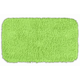 Quincy Super Shaggy Lime Green Washable Runner Bath Rug