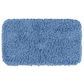 Quincy Super Shaggy Cool Blue Washable 30 x 50 Bath Rug
