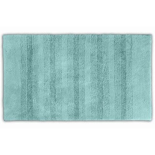 Westport Stripe Sea Glass Washable Bath Rug