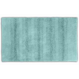 Somette Westport Stripe Sea Glass Washable Bath Rug