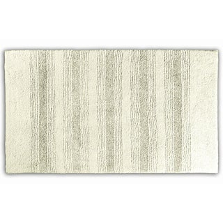 Westport Stripe Chalk Washable Bath Rug