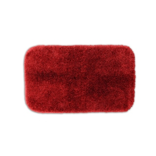 Posh Plush Garnet Washable Bath Rug