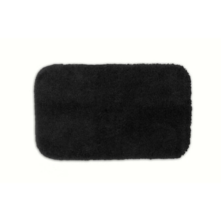 Posh Plush Onyx Washable Bath Rug