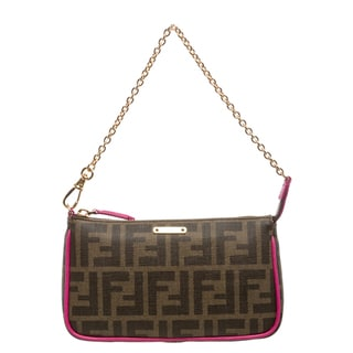 Fendi Logo Coated Canvas Pouchette