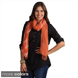 Saro Women's Ikat Design Shawl
