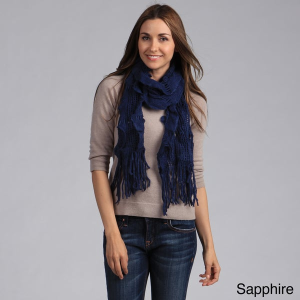 Women's Cascading Ruffles Knit Scarf