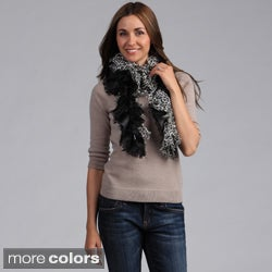 Women's Two-tone Leopard Print Ruffled Scarf