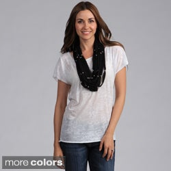 Women's Lightweight Jewel Threaded Scarf
