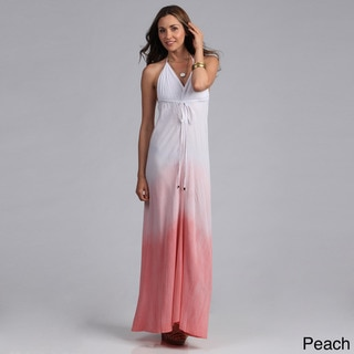 Elan Women's Ombre Dyed Maxi Halter Dress