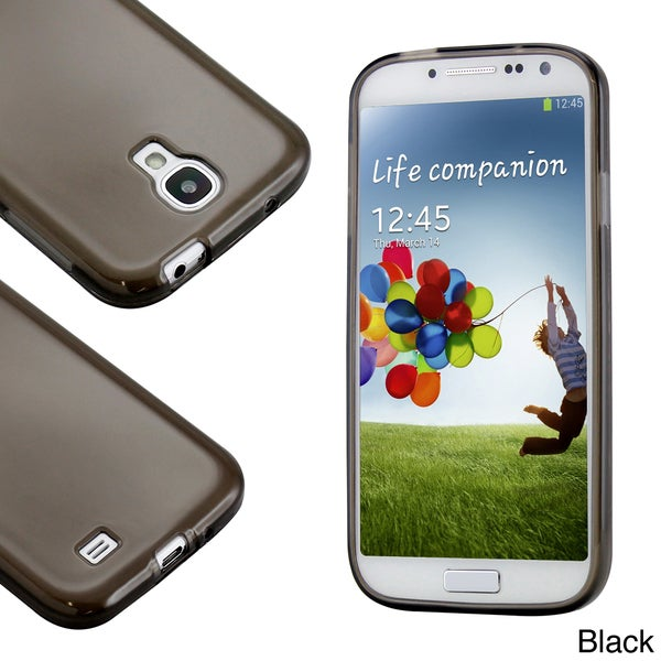 Gearonic Samsung Galaxy S4 Glossy Matte TPU Gel Soft Transparent Back Cover