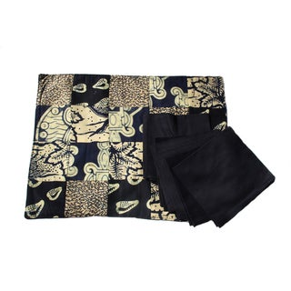 Navy Placemat and Napkin (Set of 6 Each) (Rwanda)