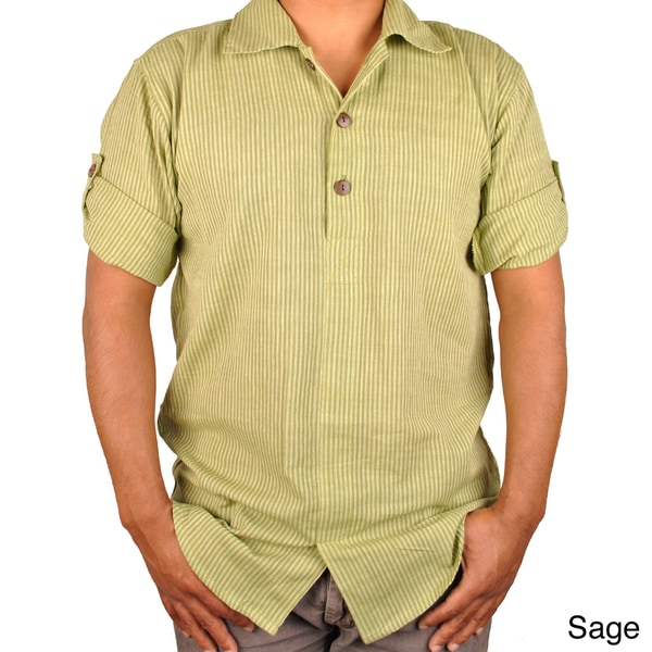 Stripe Earth Tone Buttoned Shirt (Nepal)