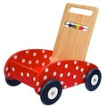 Dushi Wooden Push Car