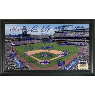 Highland Mint MLB Colorado Rockies Signature Field Frame