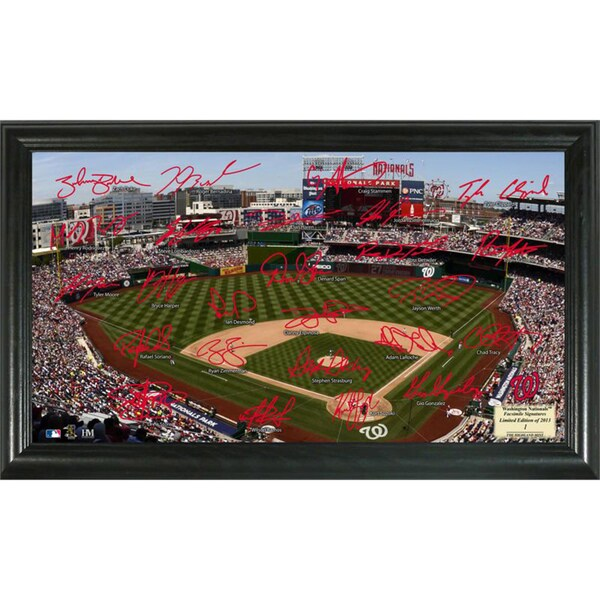 Highland Mint MLB Washington Nationals Signature Field Frame