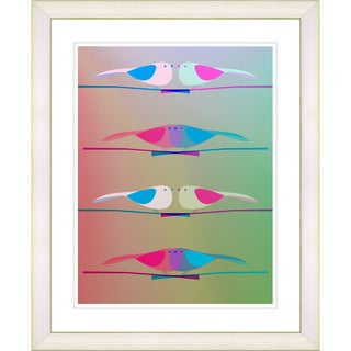 Studio Works Modern 'Morning Birds - Pink' Framed Print