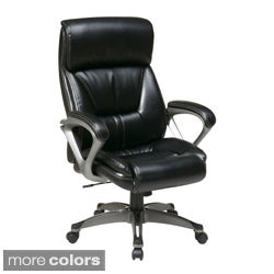 Office Star Products Work Smart Eco Leather Contemporary Executive Chair