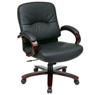 Offiec Star Products Work Smart Black Eco Leather Mid Contour Executive Chair