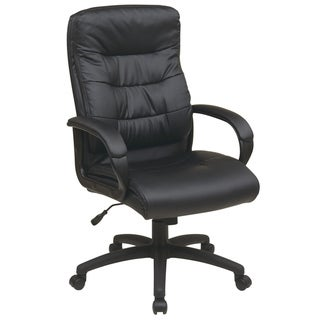 Office Star Products Work Smart High Back Faux Leather Executive Chair